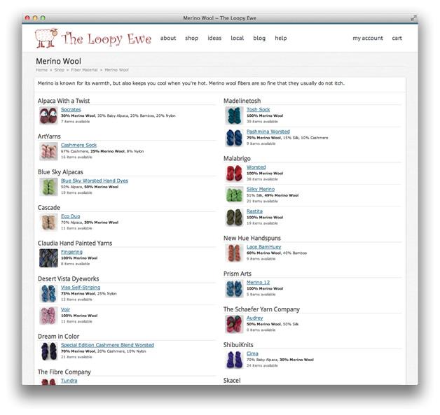 Screenshot: web page