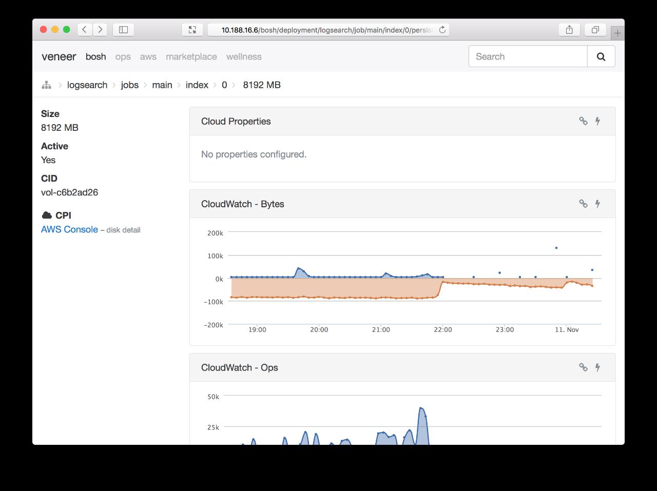 Screenshot: bosh-deployment-job-disk