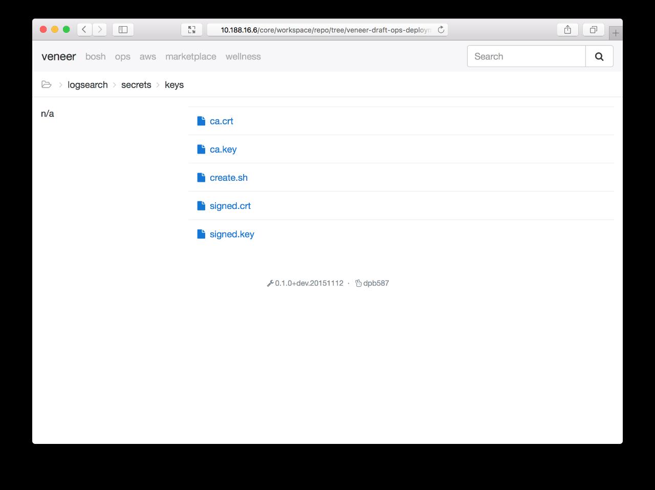 Screenshot: core-repo-deployment-arbitrary
