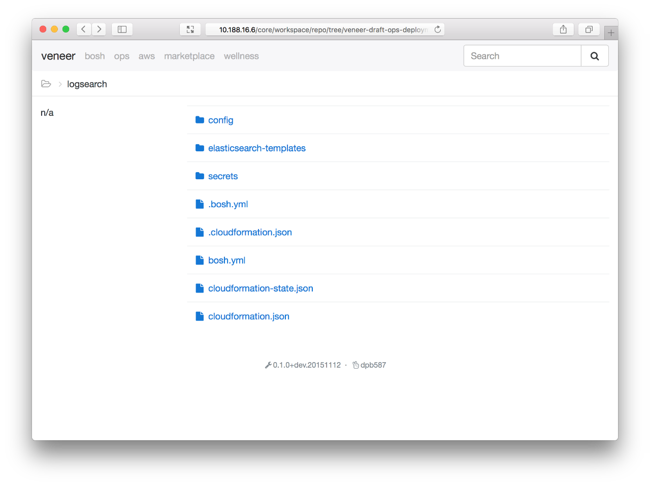 Screenshot: core-repo-deployment