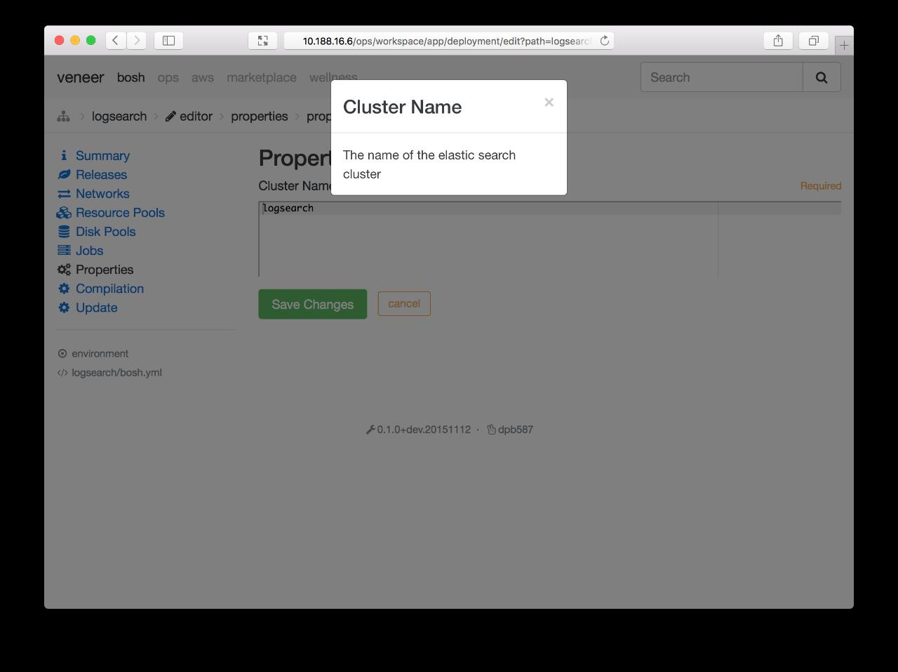 Screenshot: ops-deployment-editor-property