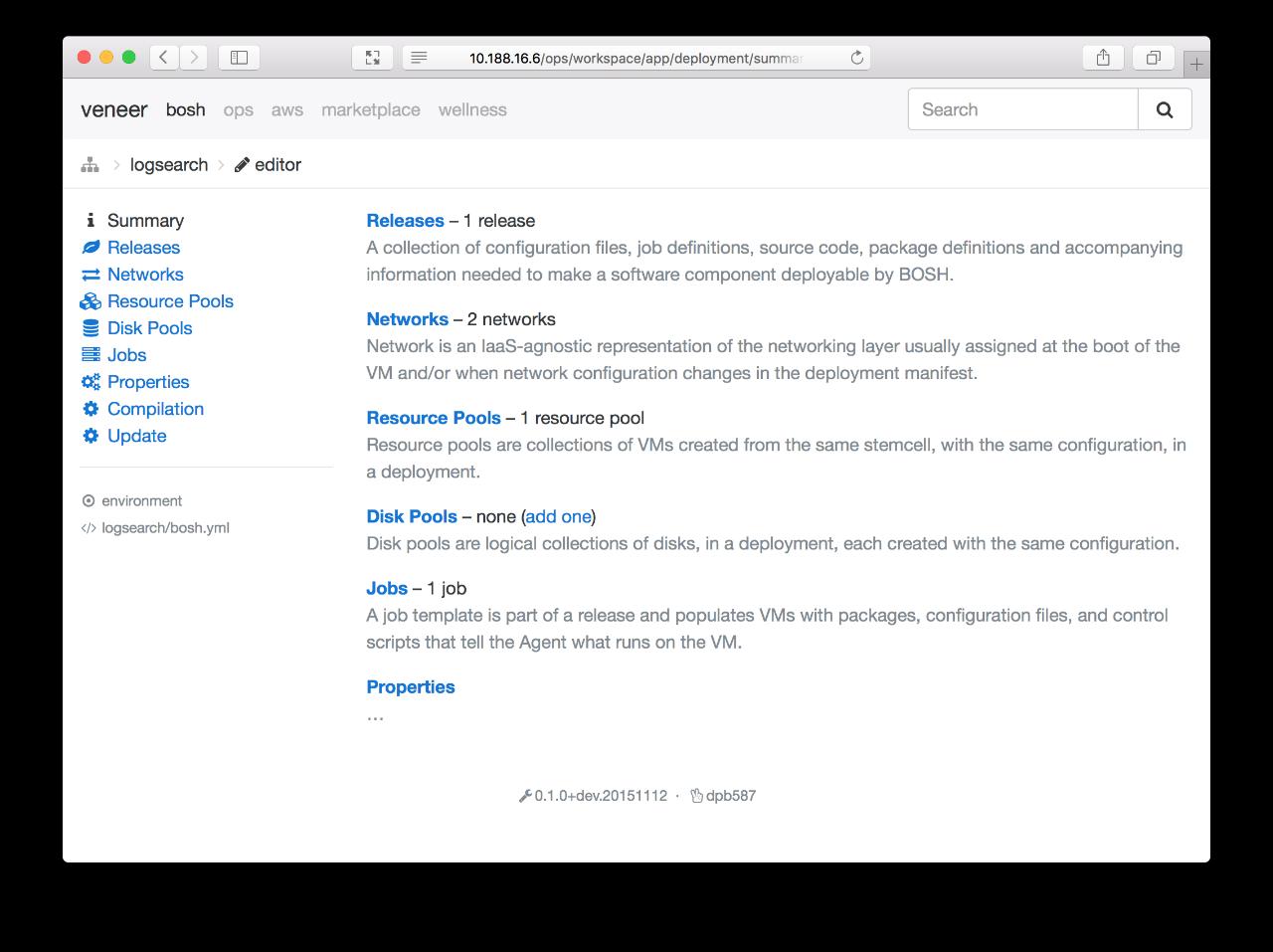 Screenshot: ops-deployment-editor