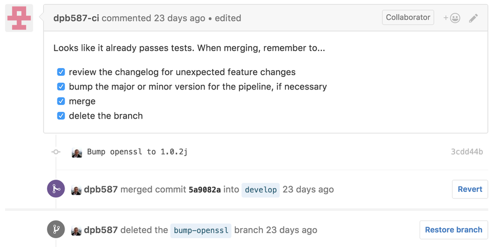 Screenshot: pull-request